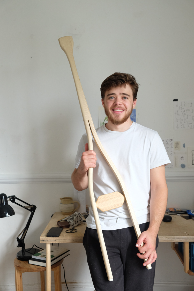 Cameron Rowley pictured with the One Step Ladder