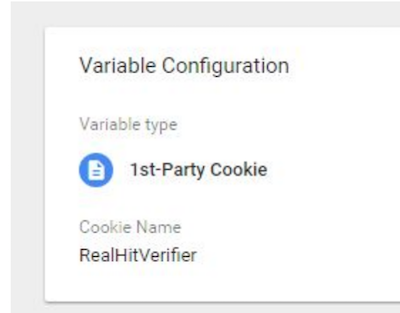 variable first party config cookie