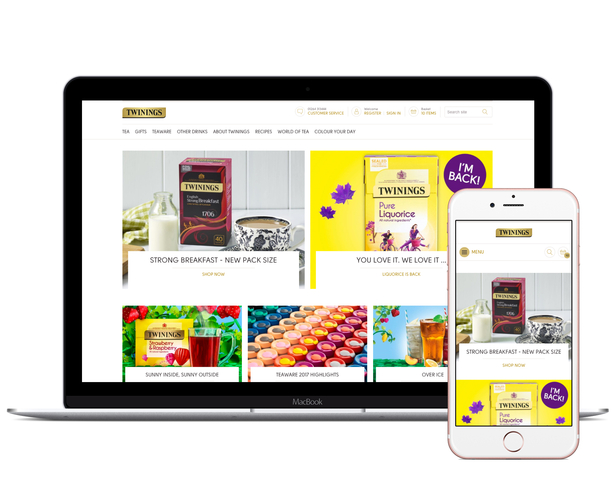 twinings online store laptop mobile
