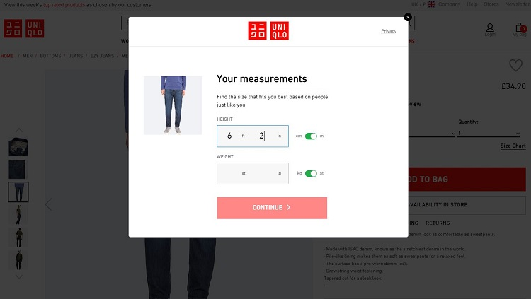 The Best Interactive Size Guides For Reducing Returns In Ecommerce Econsultancy