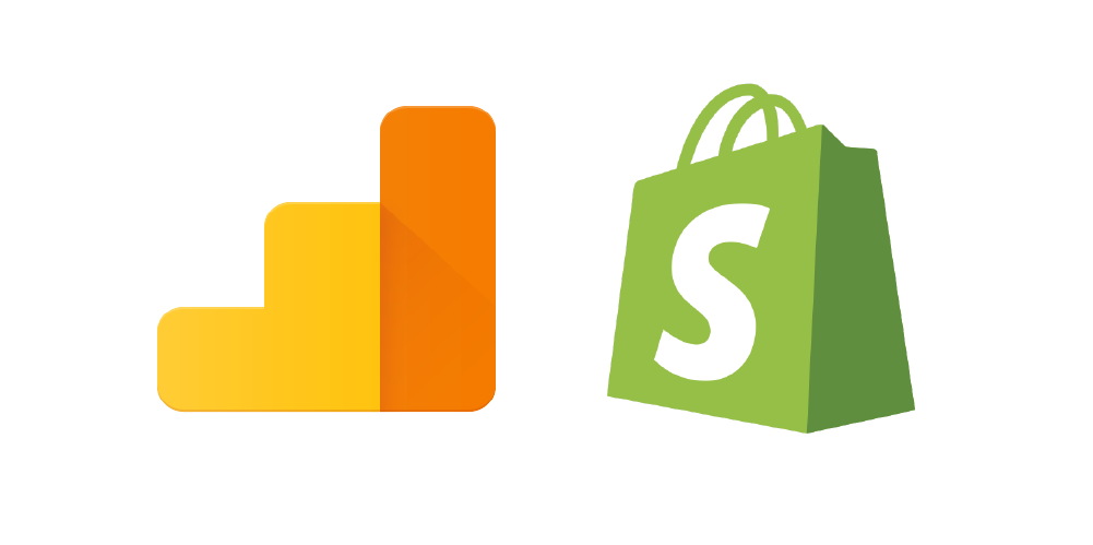 google analytics and shopify logos
