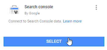 connect to search console