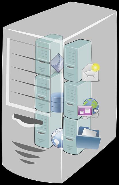 Cloud computing vector graphic