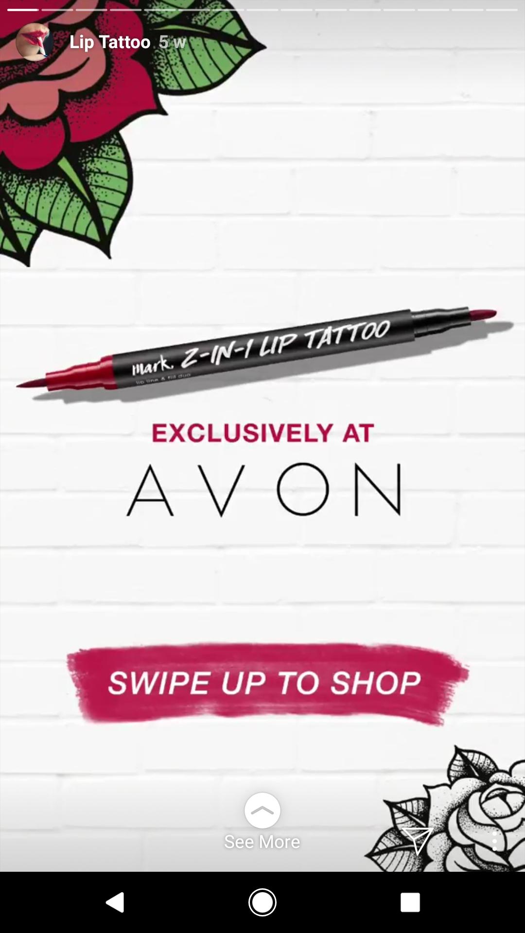 Avon Instagram story ad