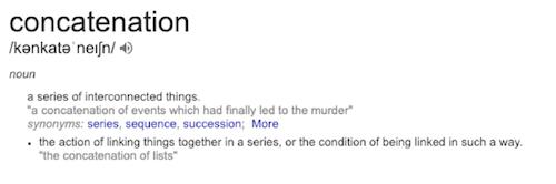 concatenation definition