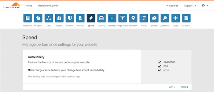 cloudflare-speed-settings