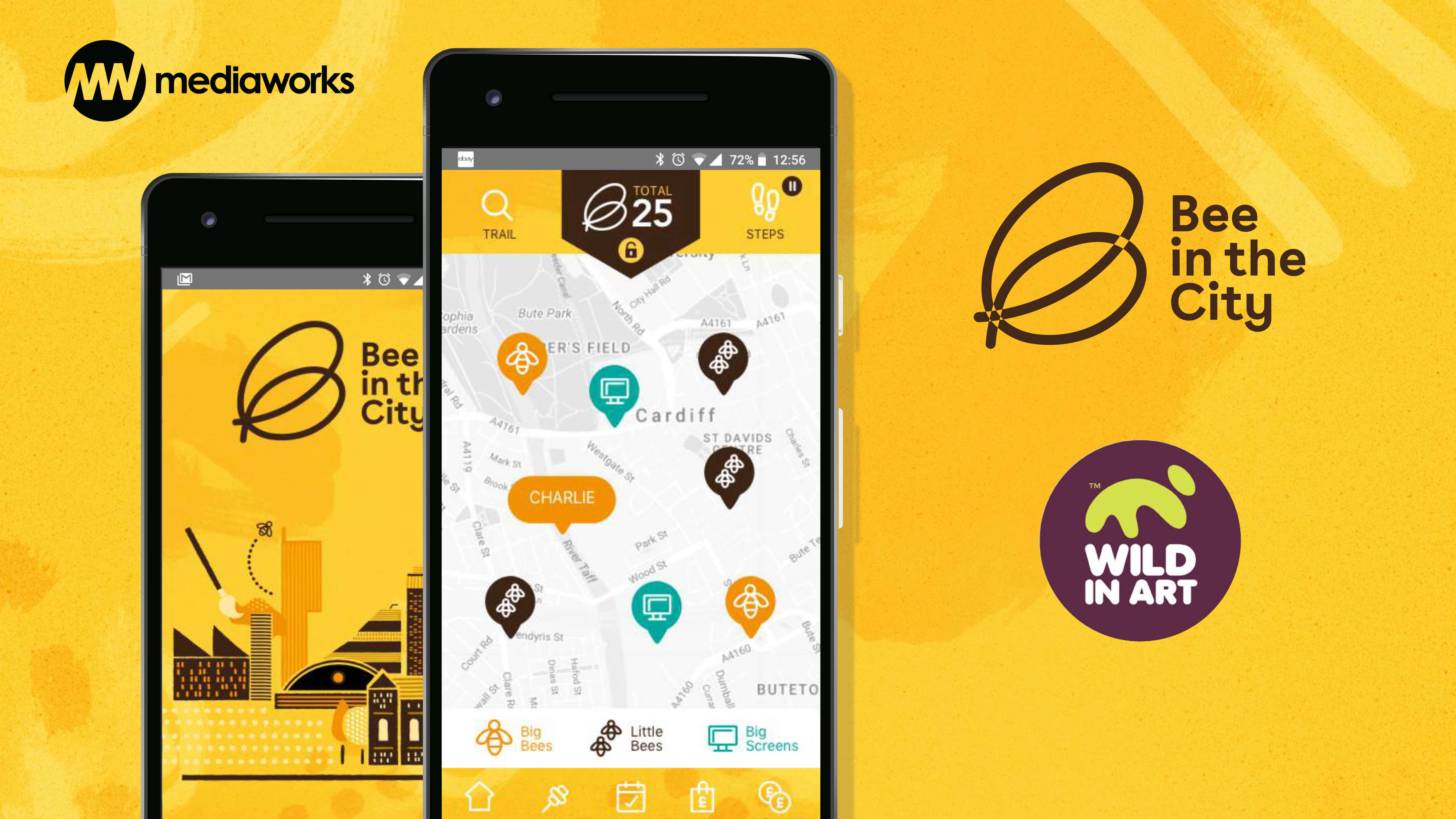 Bee In The City app screen