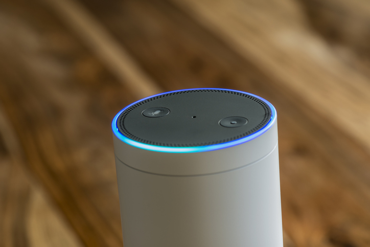 White Amazon Echo Plus