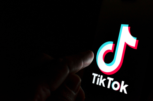 tiktok logo in dark