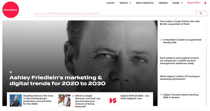 econsultancy homepage