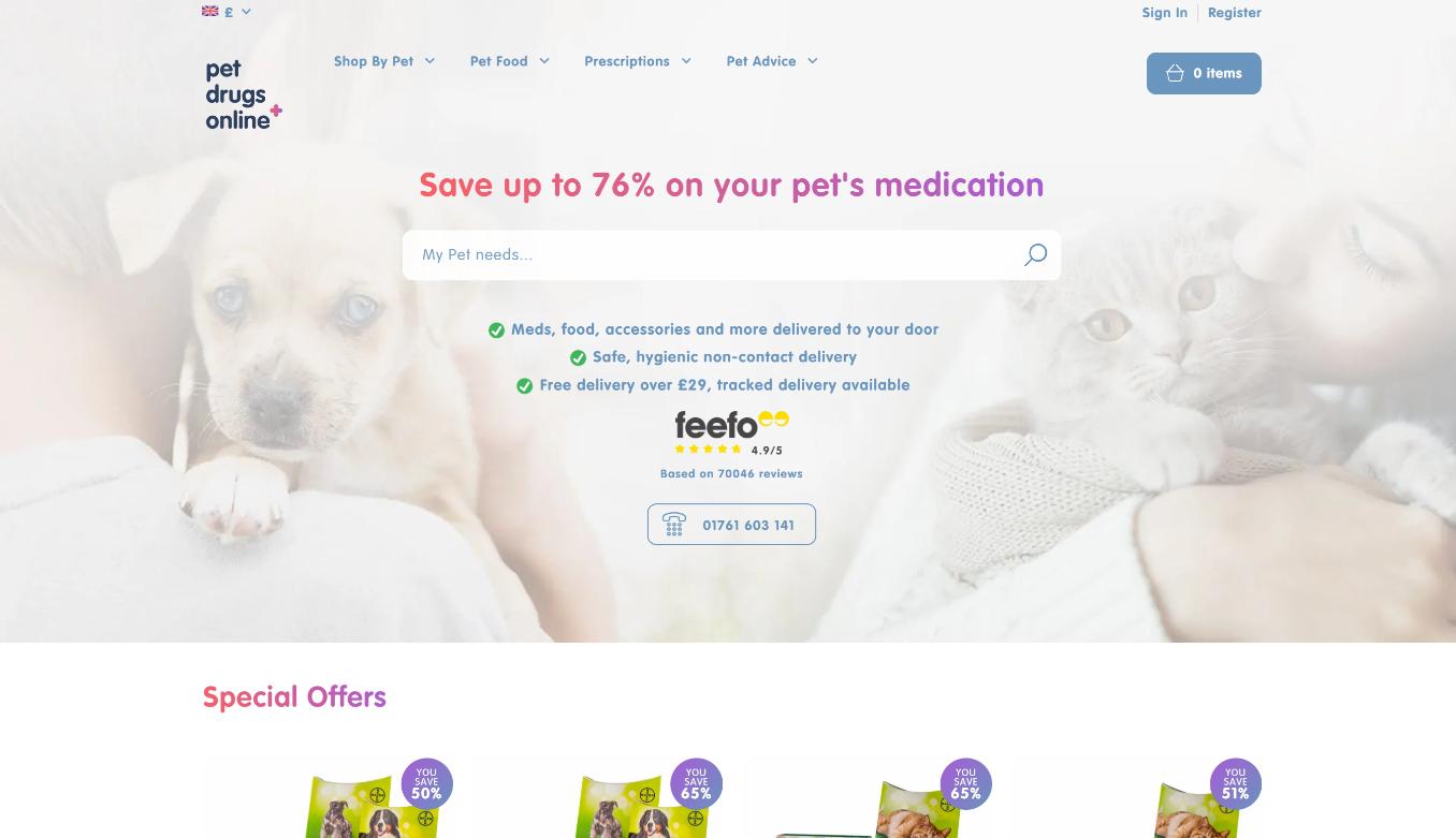 Pet Drugs Online homepage