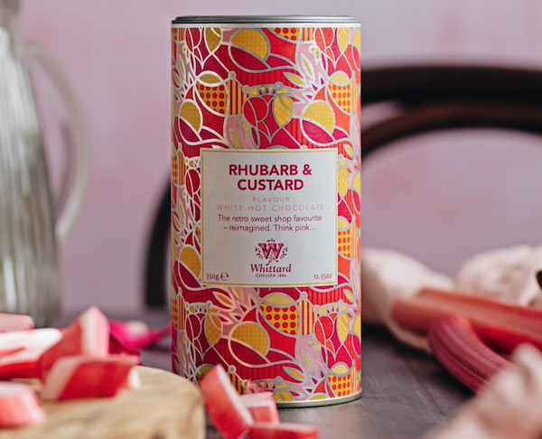 Whittards Rhubarb and Custard Hot Choloate. Image via: Whittards
