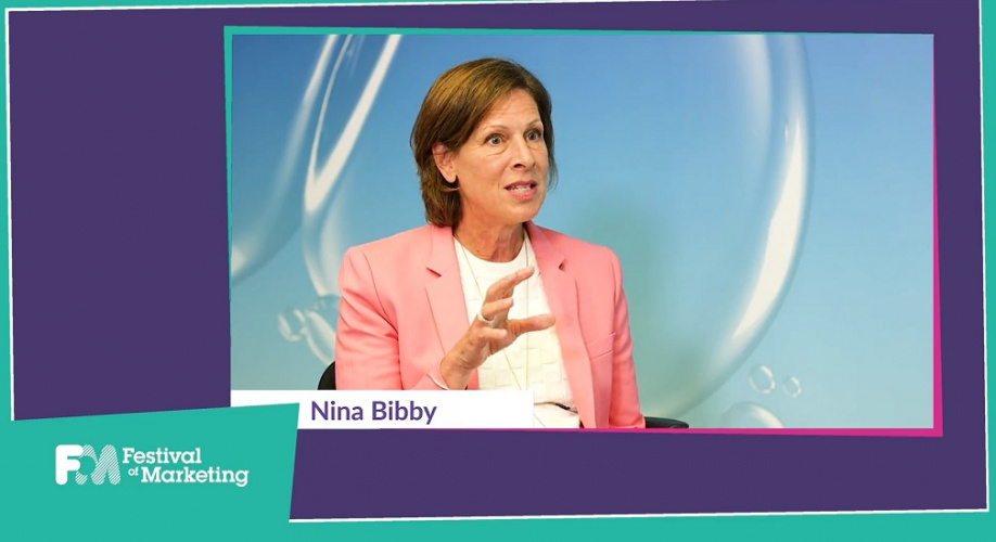 O2 CMO Nina Bibby speaking at the virtual Festival of Marketing in 2020