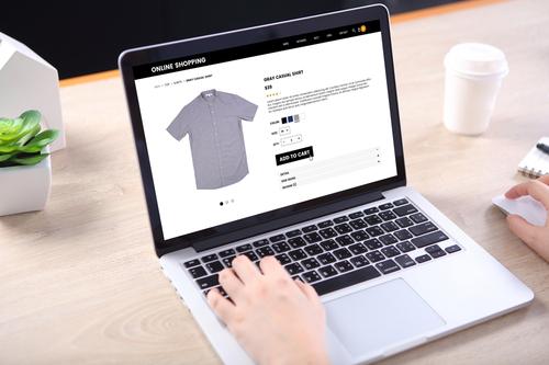 网上购物。从视觉上开始
