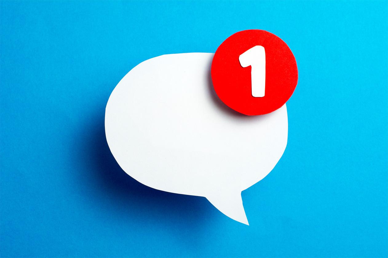 social message bubble notification