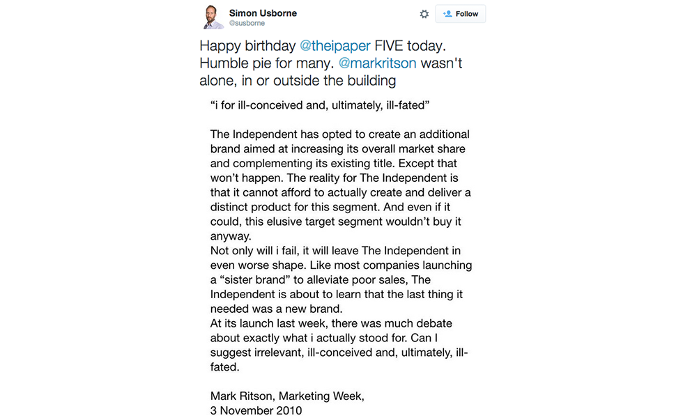 Independent twitter