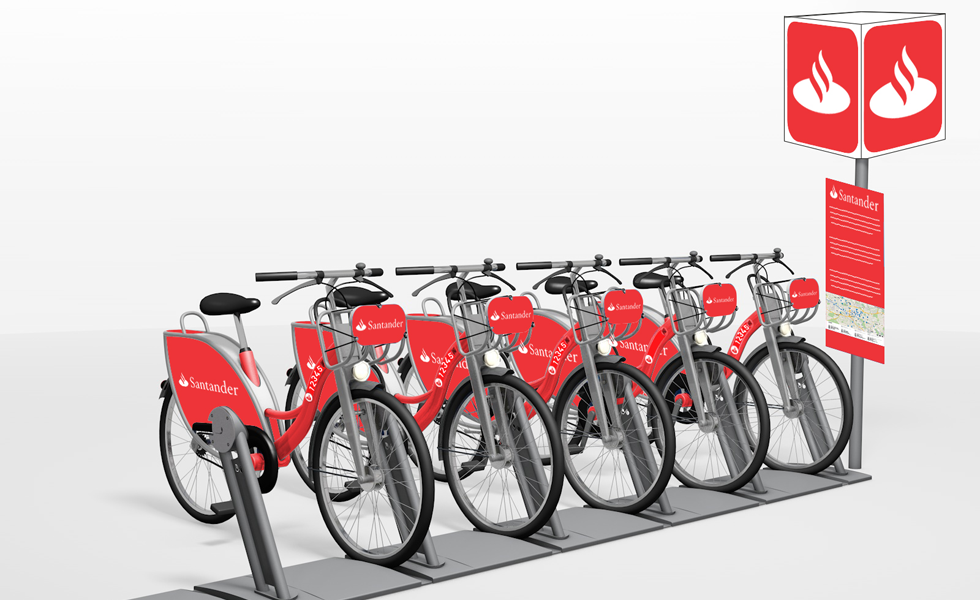 Santander is sponsoring a new cycle hire scheme in Milton Keynes