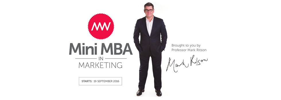 Mark Ritson Mini MBA promo