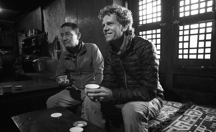 Jamling Tenzing with Huib van Bockel