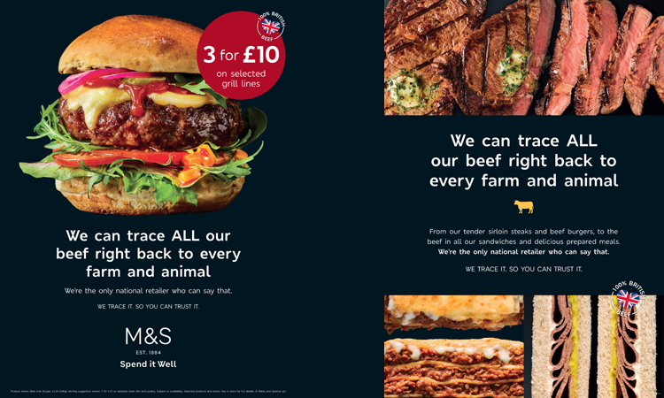 M&S food marketing campaign