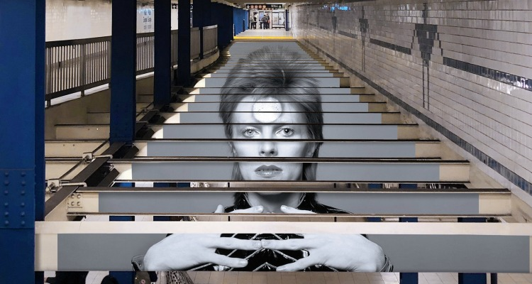 Spotify's David Bowie New York subway station campaign