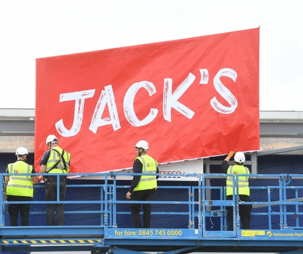 Tesco's Jack's British milk