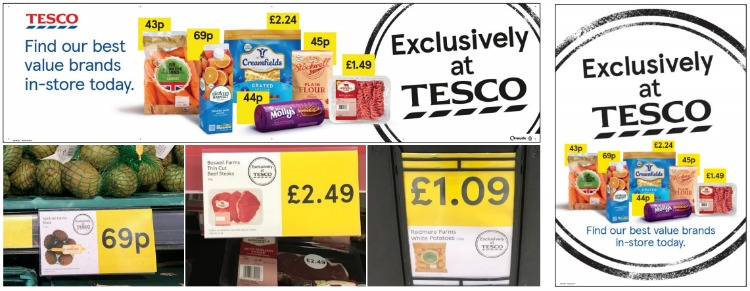 Exclusively at Tesco marketing campaign