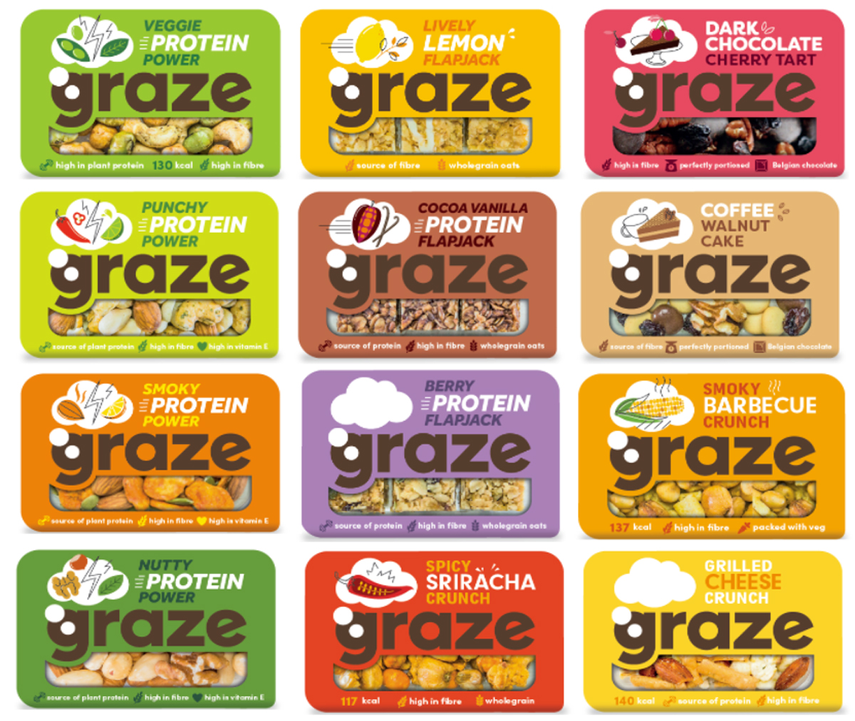 Graze healthy snacking brand, Unilever