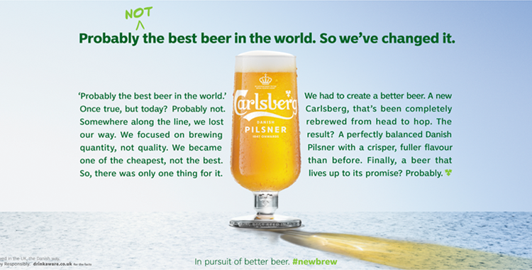 Carlsberg probably not