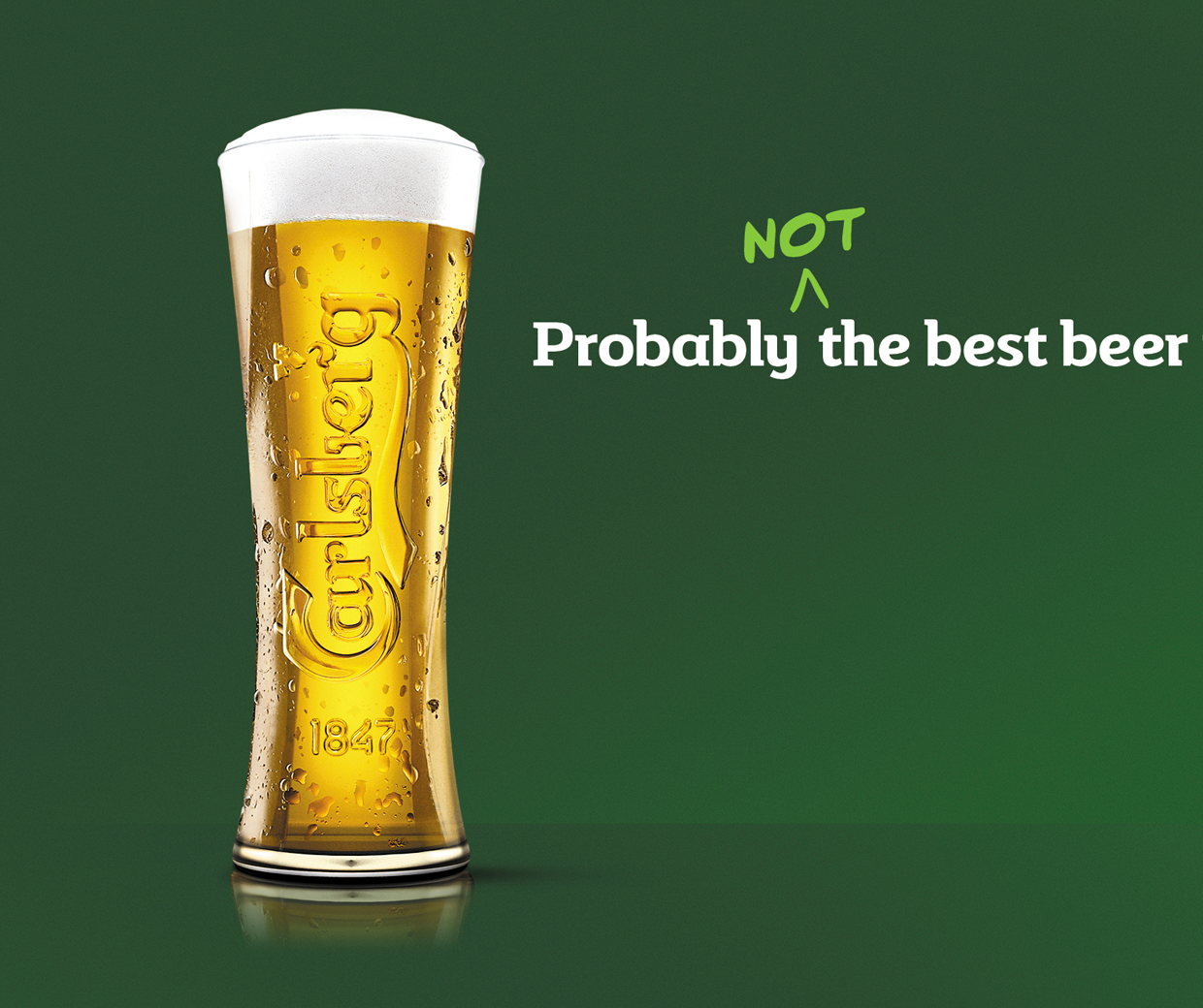 Carlsberg 'probably not the best beer in the world'