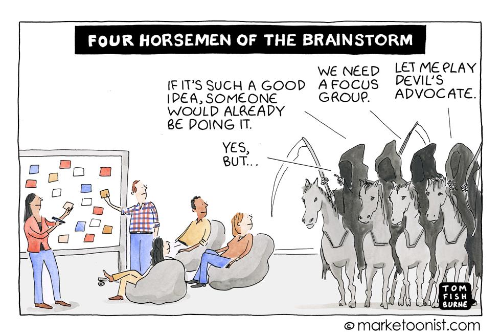 MArketoonist on Brainstorming