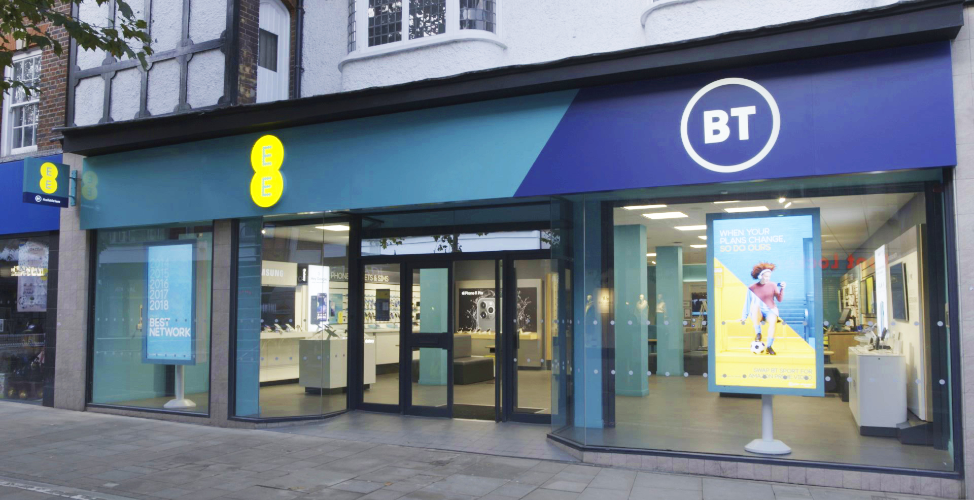 A new BT and EE co-branded store