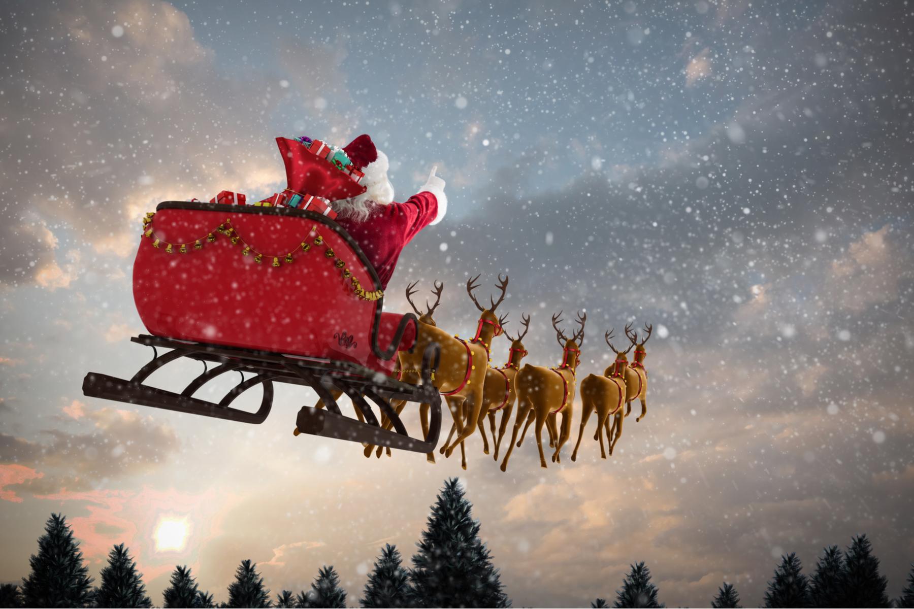 Christmas Santa reindeer
