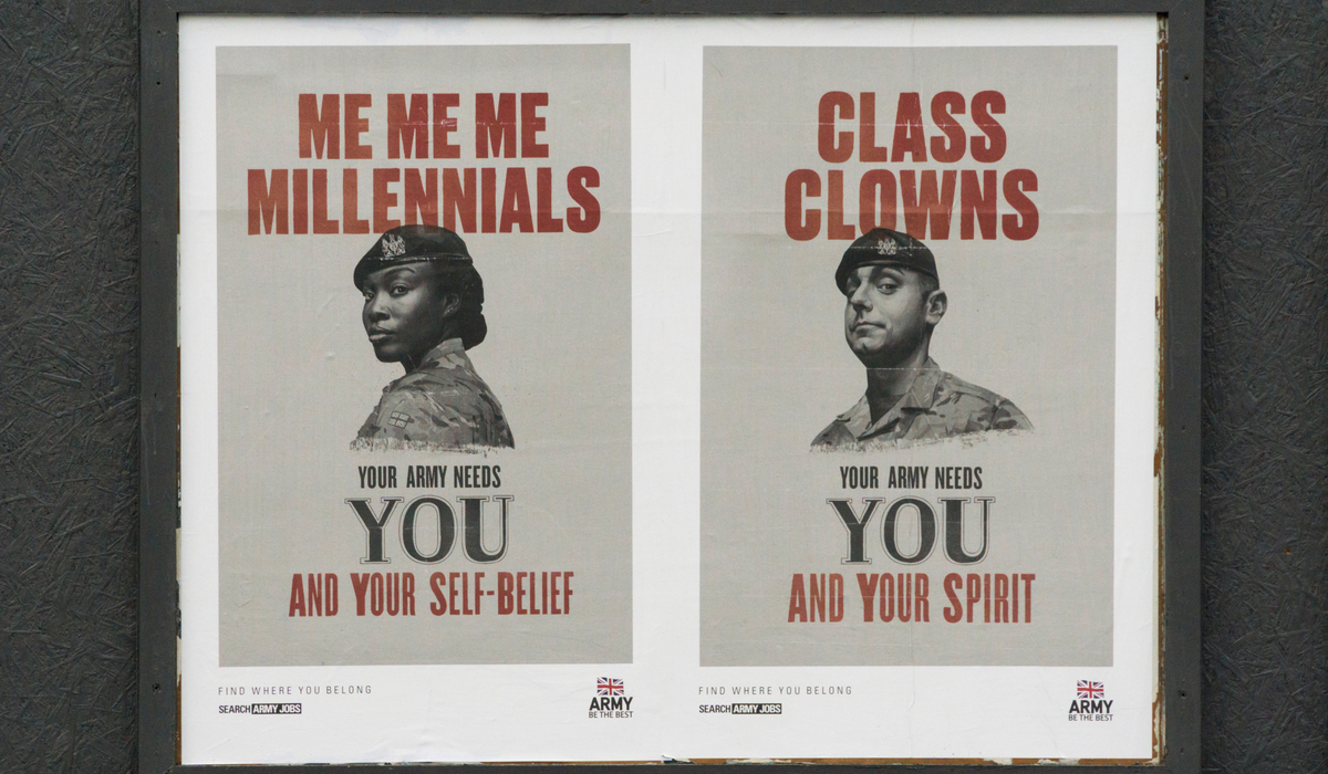 British Army recruitment Snowflakes campaign