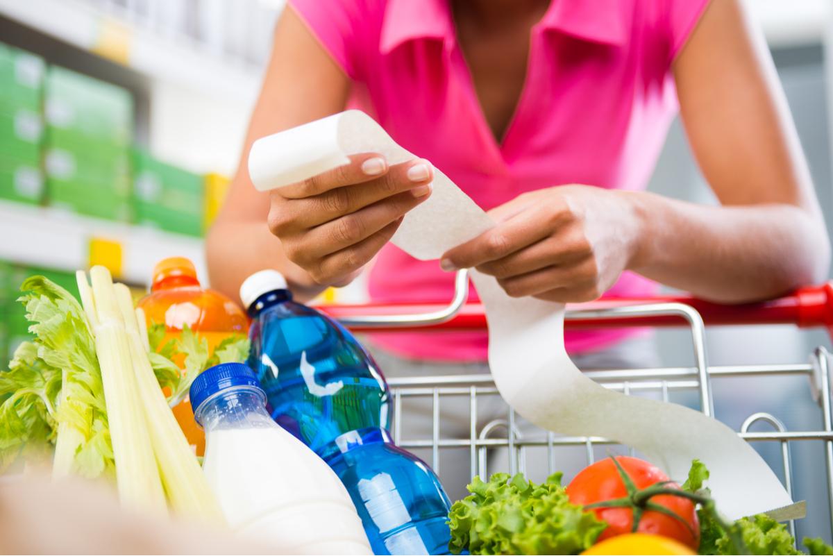 price receipt supermarket