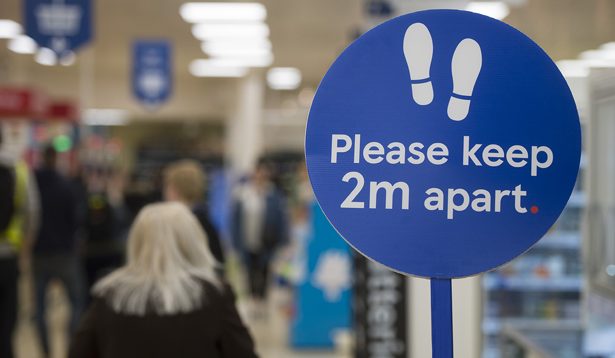 Tesco social distancing
