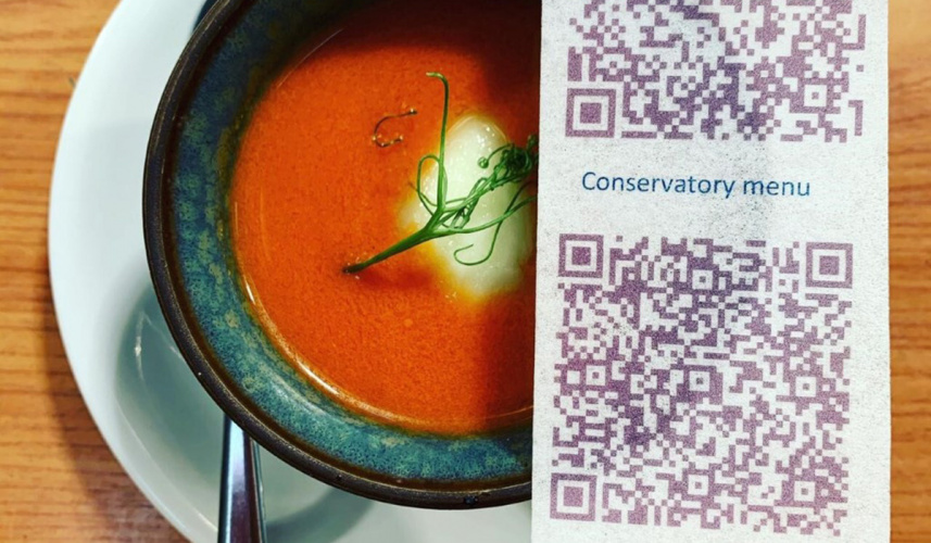 Handpicked Hotels Rice paper menu QR code