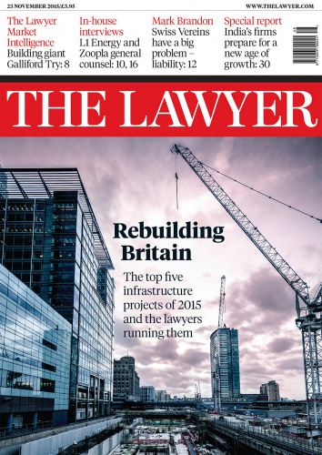 The Lawyer 23 November 2015 front cover