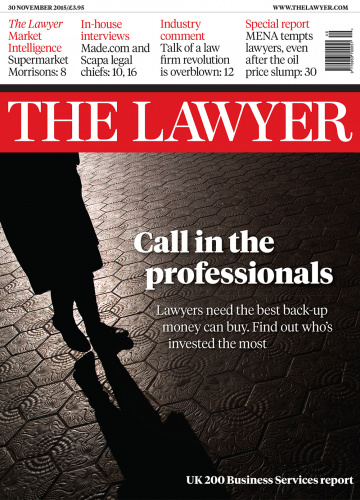 The Lawyer 30 November 2015 front cover