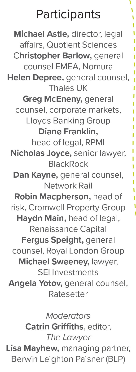 List of participants in GC2B initiative by The Lawyer and Berwin Leighton Paisner